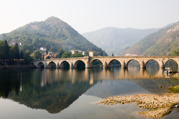 The Mehmed Pasha Sokollu bridge in Visegrad, Bosnia and Herzegov