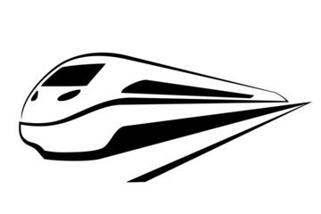 pociąg na białym tle