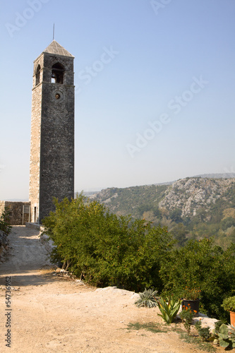 The ancient watch tower in Pocitelj, Bosnia and Herzegovina