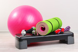 Different tools for fitness in room - 54737960