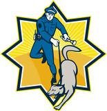 Policeman Police Dog Canine Team poster