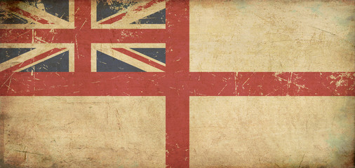 British Naval Ensign Flat Aged