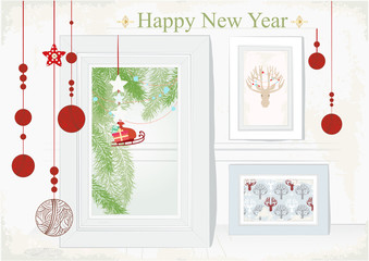 Christmas Card with themed interior