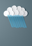 Abstract Cutout Cartoon Raincloud