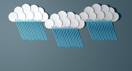 Abstract Cutout Cartoon Rainclouds