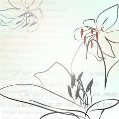 Фон лилия
