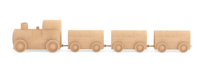 Children toy wooden train
