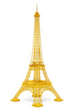 Golden 3d Eiffel tower