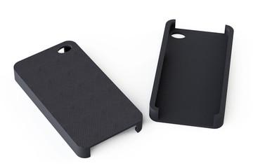 Black smartphone back covers
