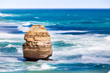 Great Ocean Road and one stone pillar