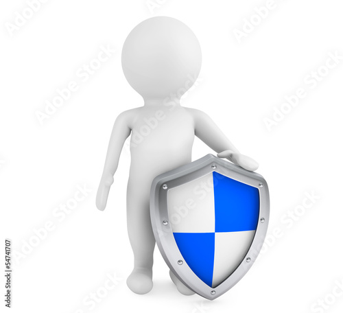3d person hold protective shield