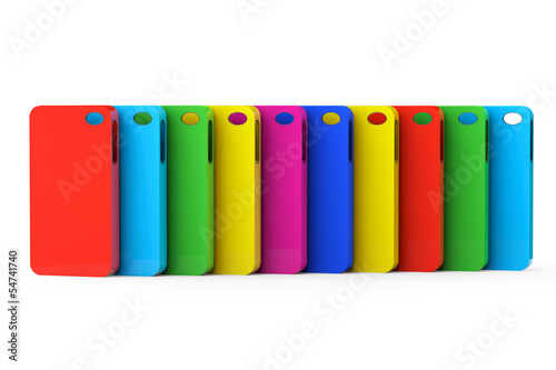 MultiColor Mobile Phone plastic cases