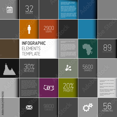 Vector squares background infographic template