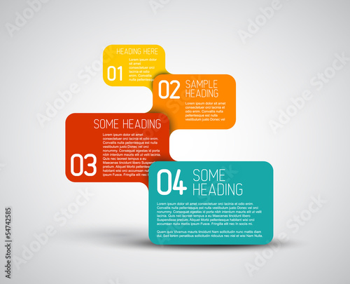 Set of colorful Vector steps template