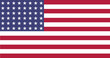US Flag WWI-WWII (48 stars) Flat, official colors & aspect ratio