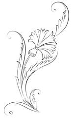 Karanfil Çiçeği Çini Deseni