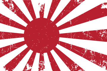 Japan's Emperial Navy Ensign Flat Texture