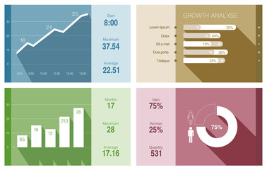 Infographics vector flat design. Financial Business report