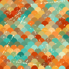 Seamless grunge pattern in retro style.