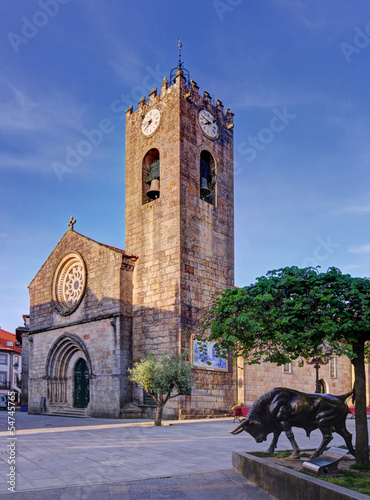 Old church Igreja Matriz in Ponte de Lima, Portugal