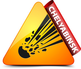 Chelyabinsk city danger sign