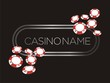 casino banner, poster, backdrop with poker chips