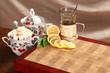 tea, lemon and sugar
