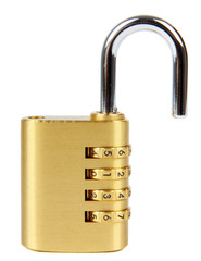 padlock with combination lock,in unlocked  position