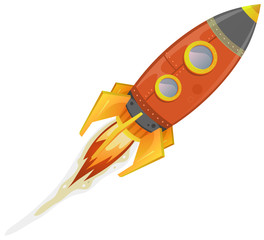 Comic Rocket Ship