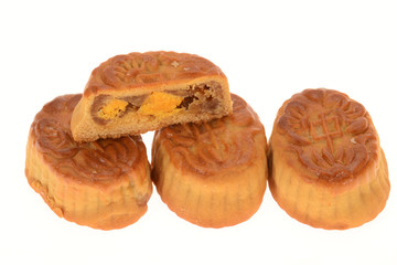 Mini Baked Moon Cakes With sectional View