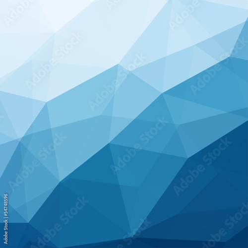 Sticker Abstract Blue Background