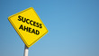 Success Sign with Clipping Path