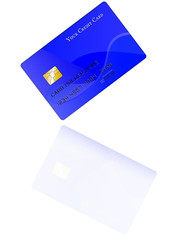 credit card, with reflection, diagonal position