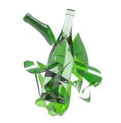 Botella de cristal rota