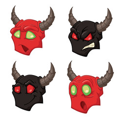 Demons heads
