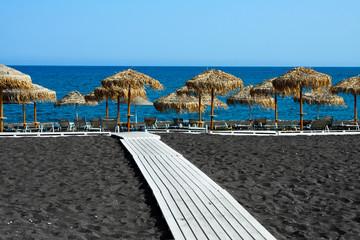 Black beach of Santorini, Greece