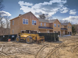 New multi family house construction framing