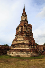 Historical and ancient the ruins at Ayutthaya