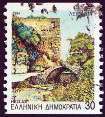 Bridge and tower, Livadeia, Boeotia (Greece 1994)