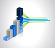 multi business graph illustration design