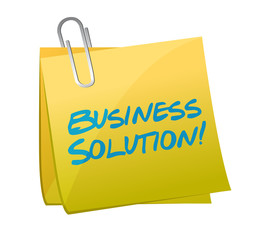 business solution post illustration design