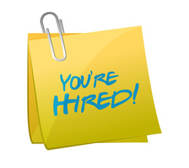 you are hired post illustration design
