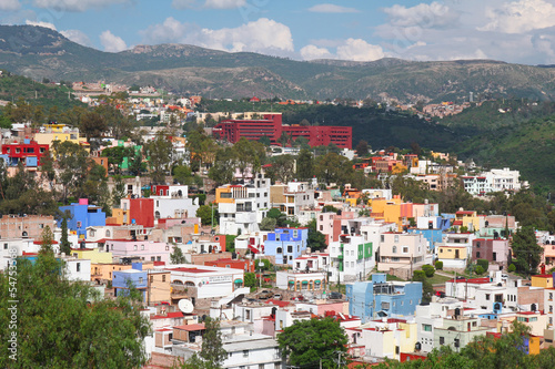 beautiful view of colorful town- Guanajuato in Mexico