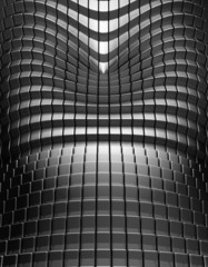 Silver metal tile abstract background