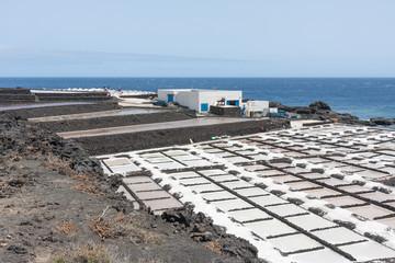 Salt pans of Fuencaliente at La Palma, Canary islands, Spain