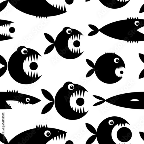 Funny fish cartoon for your design © Kudryashka