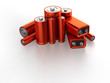 Leinwanddruck Bild - Accumulator battery
