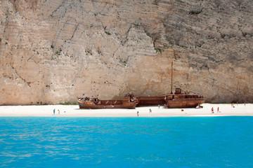 shipwreck beach zante, greece