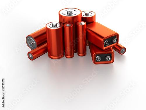 Leinwanddruck Bild Accumulator battery
