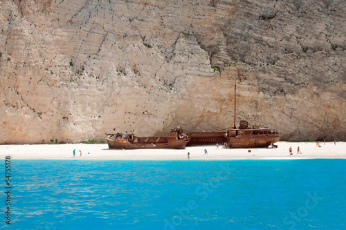 shipwreck beach zante, greece